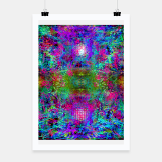 Miniaturka Invoking Reptilian Light (abstract, blue) Poster, Live Heroes