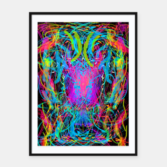 Miniature de image de Radiance Flame (abstract, psychedelic) Framed poster, Live Heroes