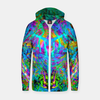 Thumbnail image of Solar System Melt (abstract, psychedelic) Zip up hoodie, Live Heroes