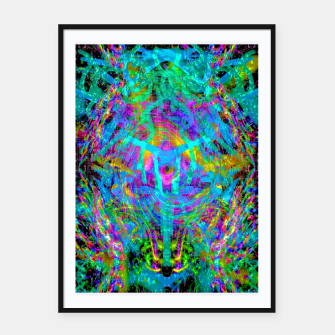 Thumbnail image of Solar System Melt (abstract, psychedelic) Framed poster, Live Heroes
