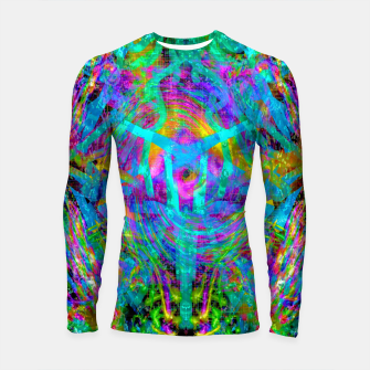 Thumbnail image of Solar System Melt (abstract, psychedelic) Longsleeve rashguard , Live Heroes