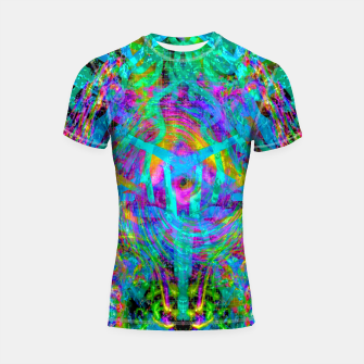 Thumbnail image of Solar System Melt (abstract, psychedelic) Shortsleeve rashguard, Live Heroes