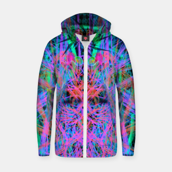 Miniatur Techno Witch (abstract) Zip up hoodie, Live Heroes