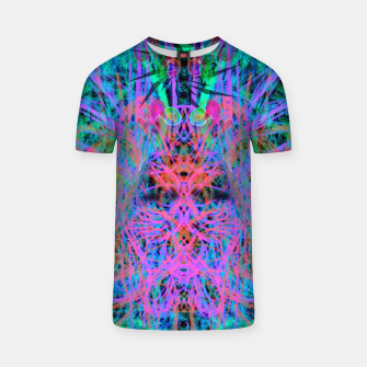 Miniatur Techno Witch (abstract) T-shirt, Live Heroes