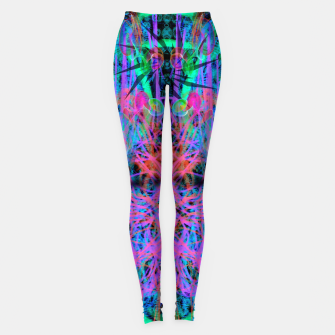 Miniatur Techno Witch (abstract) Leggings, Live Heroes