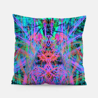 Miniatur Techno Witch (abstract) Pillow, Live Heroes