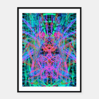 Miniaturka Techno Witch (abstract) Framed poster, Live Heroes