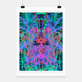 Miniatur Techno Witch (abstract) Poster, Live Heroes