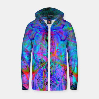 Thumbnail image of The Veil of The Mistress (abstract, psychedelic) Zip up hoodie, Live Heroes