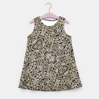Thumbnail image of Cyber Punk Pattern Design Girl's summer dress, Live Heroes