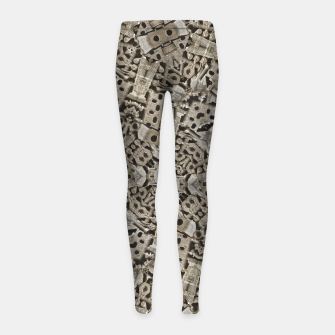 Thumbnail image of Cyber Punk Pattern Design Girl's leggings, Live Heroes