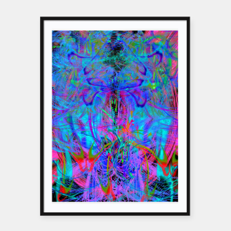 Thumbnail image of The Veil of The Mistress (abstract, psychedelic) Framed poster, Live Heroes