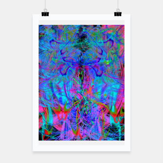 Thumbnail image of The Veil of The Mistress (abstract, psychedelic) Poster, Live Heroes