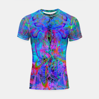 Thumbnail image of The Veil of The Mistress (abstract, psychedelic) Shortsleeve rashguard, Live Heroes