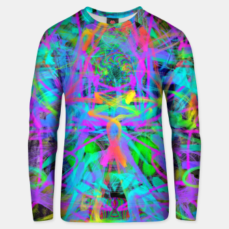 Thumbnail image of Violet Speed (abstract, psychedelic, blue, cyan, purple) Unisex sweater, Live Heroes