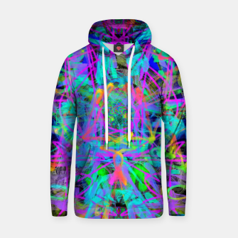 Violet Speed (abstract, psychedelic, blue, cyan, purple) Hoodie thumbnail image