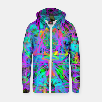 Violet Speed (abstract, psychedelic, blue, cyan, purple) Zip up hoodie thumbnail image