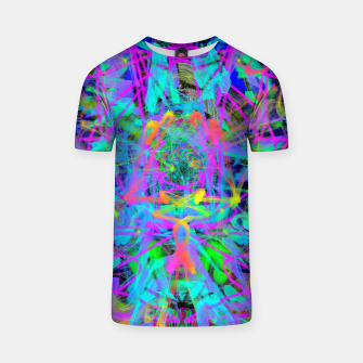 Violet Speed (abstract, psychedelic, blue, cyan, purple) T-shirt thumbnail image