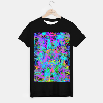 Thumbnail image of Violet Speed (abstract, psychedelic, blue, cyan, purple) T-shirt regular, Live Heroes