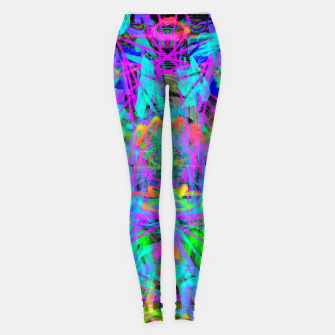 Thumbnail image of Violet Speed (abstract, psychedelic, blue, cyan, purple) Leggings, Live Heroes