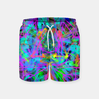 Violet Speed (abstract, psychedelic, blue, cyan, purple) Swim Shorts thumbnail image