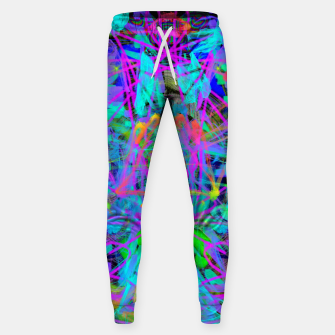 Violet Speed (abstract, psychedelic, blue, cyan, purple) Sweatpants thumbnail image