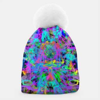 Thumbnail image of Violet Speed (abstract, psychedelic, blue, cyan, purple) Beanie, Live Heroes