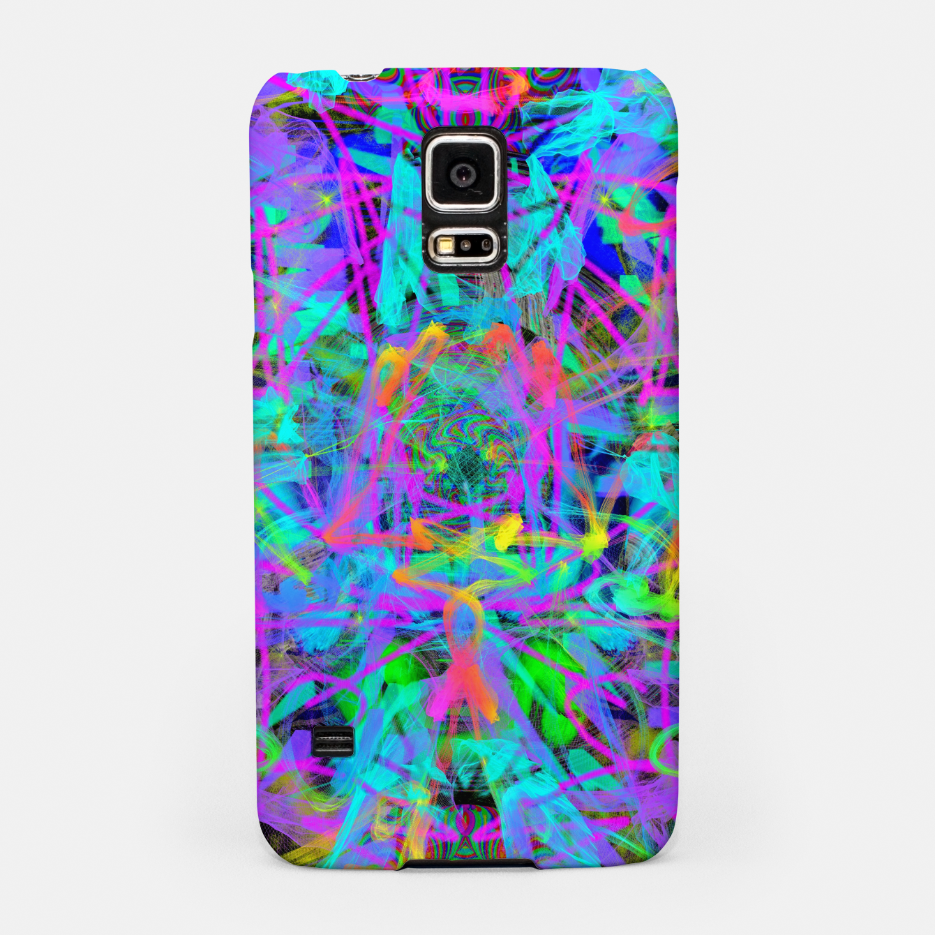 Image of Violet Speed (abstract, psychedelic, blue, cyan, purple) Samsung Case - Live Heroes