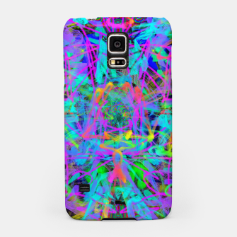 Violet Speed (abstract, psychedelic, blue, cyan, purple) Samsung Case thumbnail image