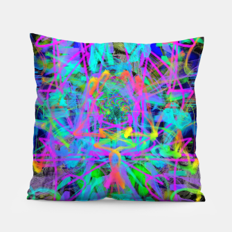 Thumbnail image of Violet Speed (abstract, psychedelic, blue, cyan, purple) Pillow, Live Heroes