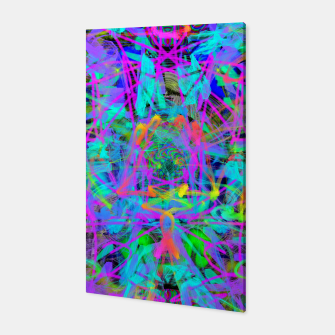 Violet Speed (abstract, psychedelic, blue, cyan, purple) Canvas thumbnail image
