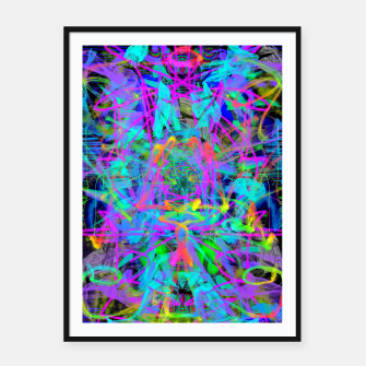 Thumbnail image of Violet Speed (abstract, psychedelic, blue, cyan, purple) Framed poster, Live Heroes