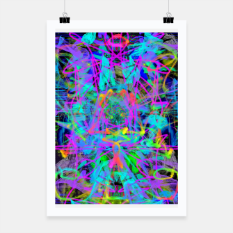 Violet Speed (abstract, psychedelic, blue, cyan, purple) Poster thumbnail image