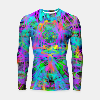 Thumbnail image of Violet Speed (abstract, psychedelic, blue, cyan, purple) Longsleeve rashguard , Live Heroes