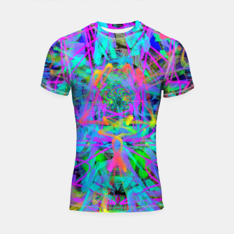 Thumbnail image of Violet Speed (abstract, psychedelic, blue, cyan, purple) Shortsleeve rashguard, Live Heroes