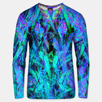 Thumbnail image of Water Drop Dream Reflection (abstract, blue) Unisex sweater, Live Heroes