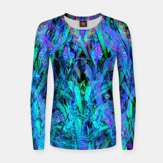 Thumbnail image of Water Drop Dream Reflection (abstract, blue) Women sweater, Live Heroes
