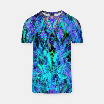 Thumbnail image of Water Drop Dream Reflection (abstract, blue) T-shirt, Live Heroes