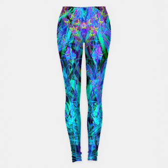 Thumbnail image of Water Drop Dream Reflection (abstract, blue) Leggings, Live Heroes