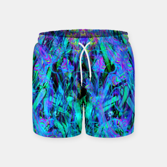 Thumbnail image of Water Drop Dream Reflection (abstract, blue) Swim Shorts, Live Heroes
