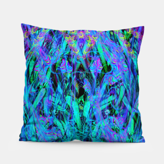 Thumbnail image of Water Drop Dream Reflection (abstract, blue) Pillow, Live Heroes