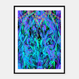 Thumbnail image of Water Drop Dream Reflection (abstract, blue) Framed poster, Live Heroes