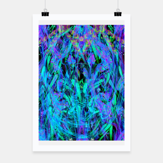 Thumbnail image of Water Drop Dream Reflection (abstract, blue) Poster, Live Heroes