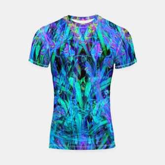 Thumbnail image of Water Drop Dream Reflection (abstract, blue) Shortsleeve rashguard, Live Heroes