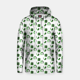 Thumbnail image of St. Patrick's day pattern Hoodie, Live Heroes
