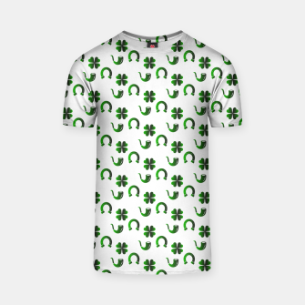 Thumbnail image of St. Patrick's day pattern T-shirt, Live Heroes