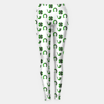 Thumbnail image of St. Patrick's day pattern Leggings, Live Heroes