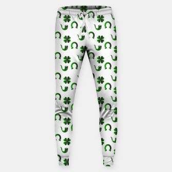 Thumbnail image of St. Patrick's day pattern Sweatpants, Live Heroes