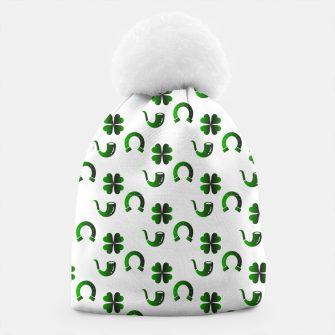 Thumbnail image of St. Patrick's day pattern Beanie, Live Heroes