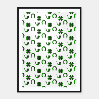 Thumbnail image of St. Patrick's day pattern Framed poster, Live Heroes